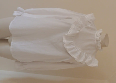 Victorian Edwardian white frilled blouse