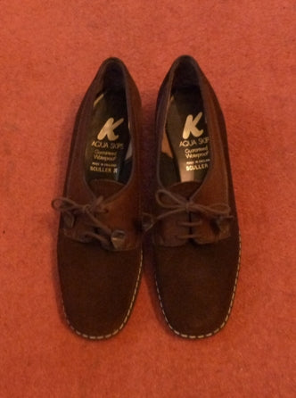 vintage brown suede lace up shoes