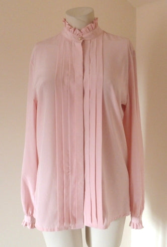 pink victorian style blouse