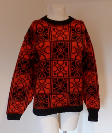 norwegian red and black jumper
