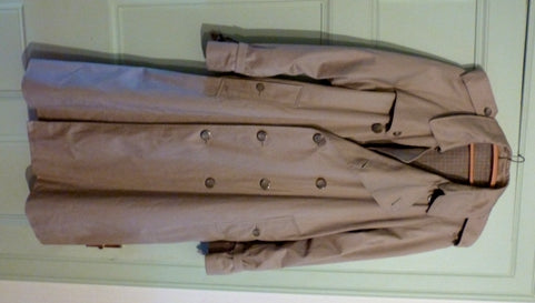 Men's classic beige double breasted trench coat