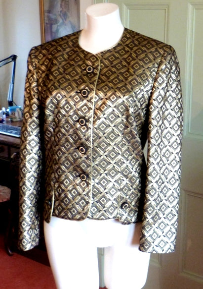 Gold metallic brocade jacket