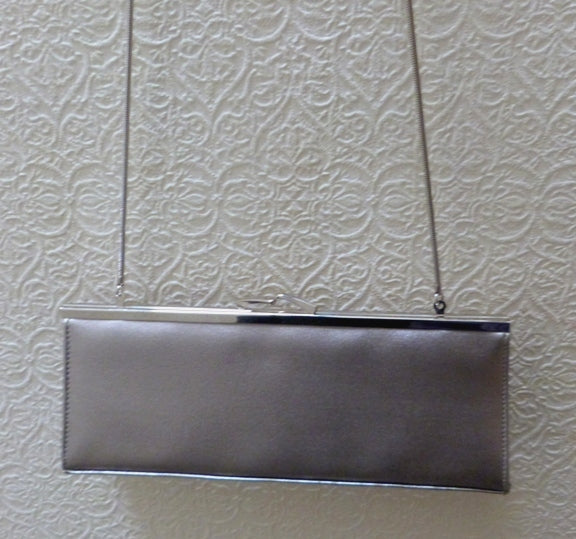 metallic evening bag