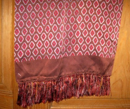 mens patterned silk scarf