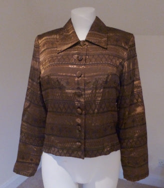 bronze metalic jacket