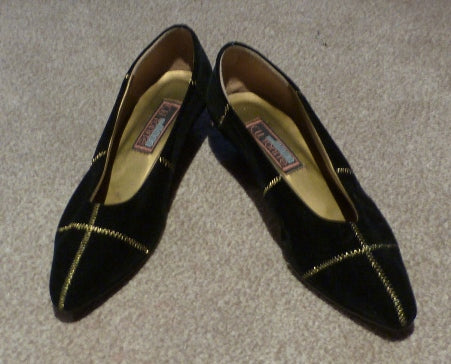 80s black and gold shoes