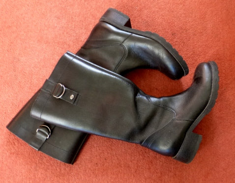 CAT black leather boots
