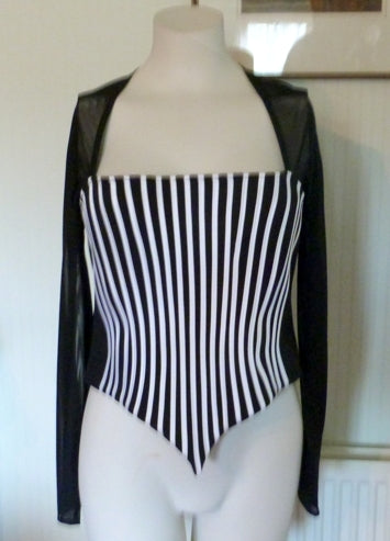 Ribkoff black and white evening top
