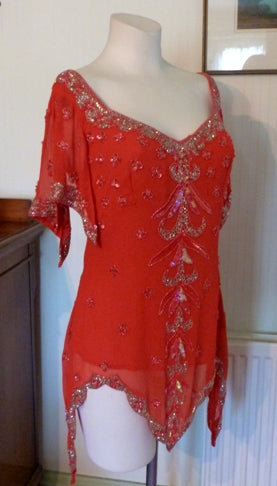 red flapper top