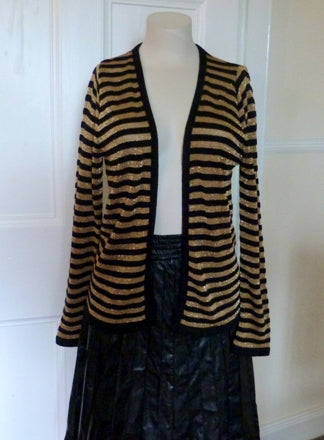 Vintage Wallis black and gold lurex cardigan