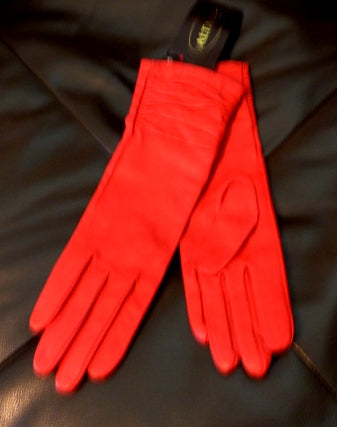 altare red leather gloves