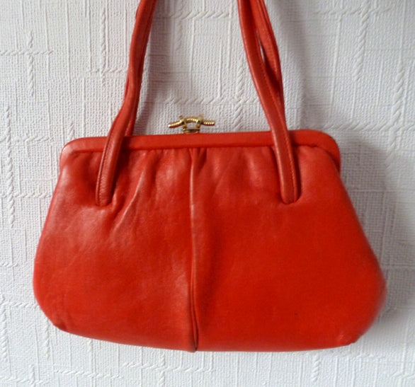 80s red leatherette bag