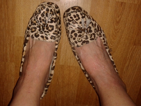 leopard pony hair shoes