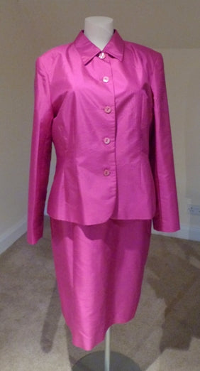 Austin Reed Fuchsia Silk Dress And Jacket The Frockery