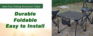 GeerTop Folding Camping Table
