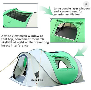 GeerTop Pioneer 5 Tent 3-5 Person Pop-Up Camp Shelter Tent