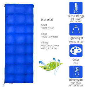 GeerTop Pluto 800g Down Sleeping Bag with Portable Stuff Sack