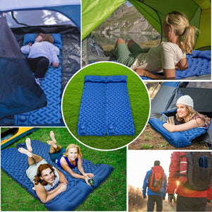 GEERTOP Camping Sleeping Pad - Ultralight Inflatable Sleeping Mat Pads Durable Waterproof Air Mattress Compact Ultralight Hiking Pad Built-in Pump with Pillow for Backpacking, Traveling, Hiking, Tent