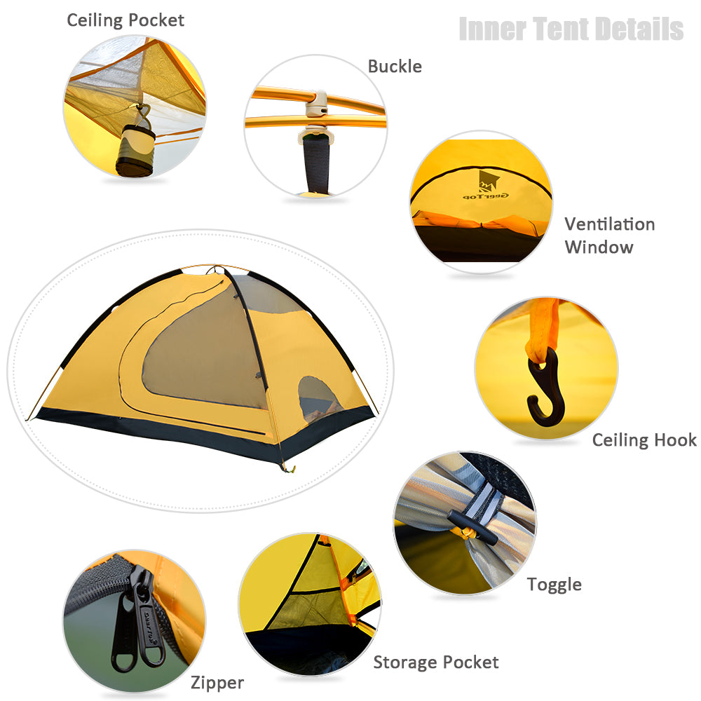 Toproad 4 Plus Four Person 4 Season Camping Family Tent
