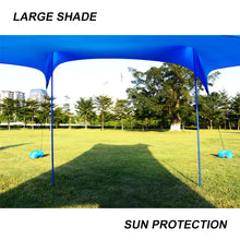 Load image into Gallery viewer, GeerTop Beach Sunshade UPF 50+ Sun Protection Shelter Large Tarp with 4 Sandbag Anchors
