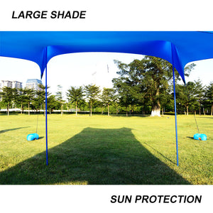 GeerTop Beach Sunshade UPF 50+ Sun Protection Shelter Large Tarp with 4 Sandbag Anchors