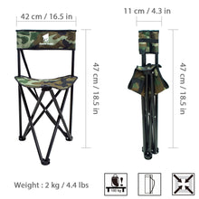 Load image into Gallery viewer, GeerTop Protable Camping Tripod Chair with Backrest