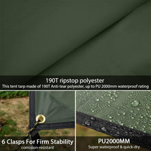 Load image into Gallery viewer, GeerTop Illuminated Tent Tarp Ultralight Waterproof Shelter Rain Fly with LED Strip for Night Lighted
