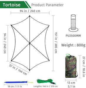 GeerTop 2-4 persons Large Waterproof Rain Fly Sun Shelter Tent Tarp