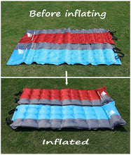 Load image into Gallery viewer, GeerTop 2in Extra Thick Self-Inflating Camp Pad Mat With Pillow
