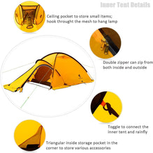 Load image into Gallery viewer, GeerTop Navigator  2Plus 2-Person 4-Season Tent