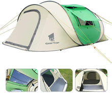 Load image into Gallery viewer, GeerTop Pioneer 6 Tent 4-6 Person Pop-Up Shelter Tent