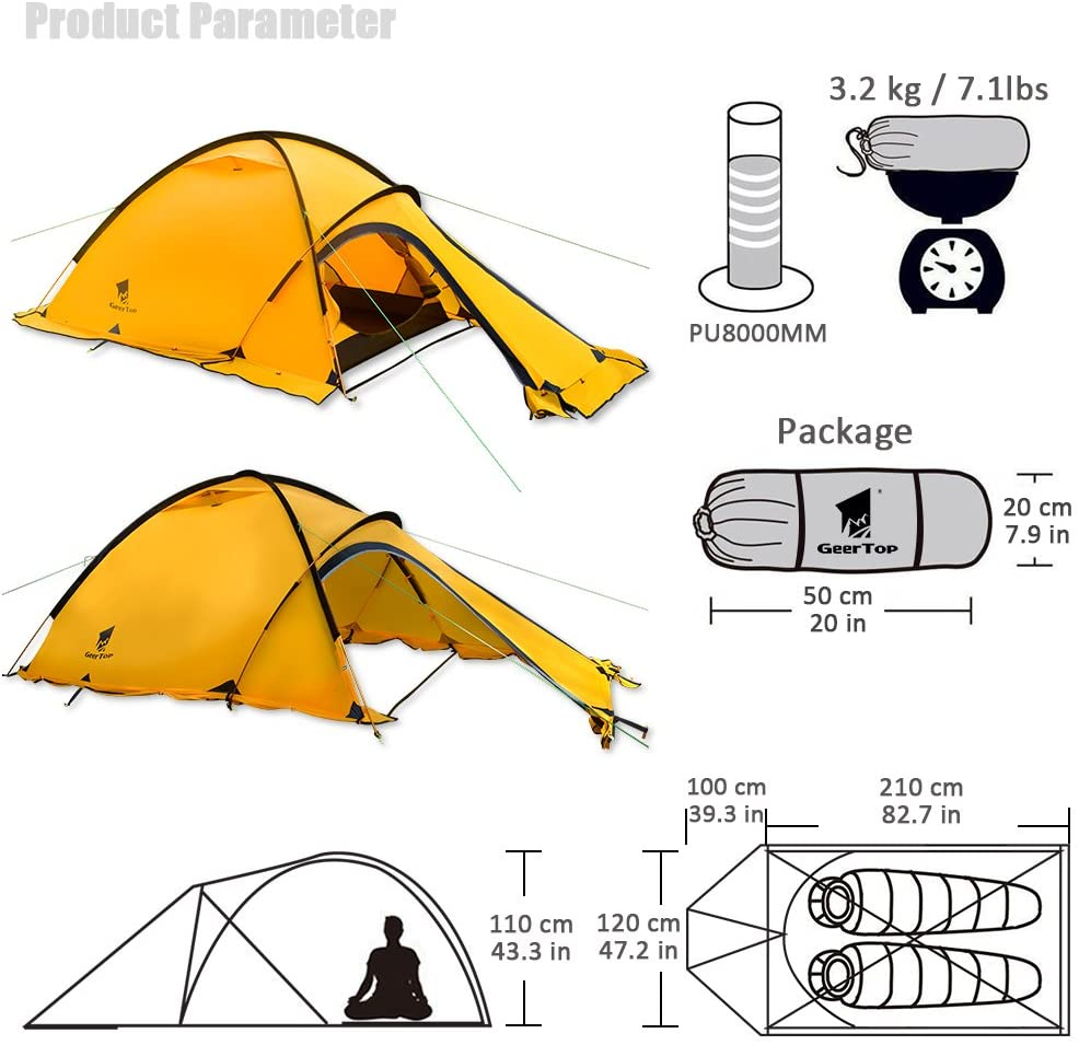 Navigator Two Person 4 Season Mountaineering Tent