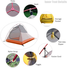 Load image into Gallery viewer, GeerTop Libra 2 Person 3-4 Season 20D Camping Tent