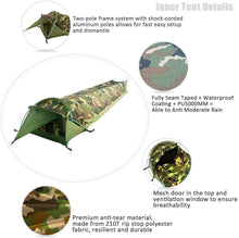 Load image into Gallery viewer, GeerTop Plume Bivy l Tent 1-Person 3-Season Swag