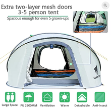 Load image into Gallery viewer, GeerTop Pioneer 5 Tent 3-5 Person Pop-Up Camp Shelter Tent