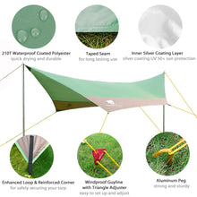 Load image into Gallery viewer, GeerTop Swallow 4 - 7 Persons Tarp Waterproof Rain Fly Sun Shelter Tent Tarp