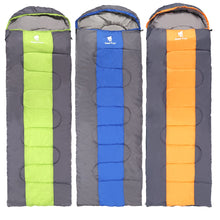 Load image into Gallery viewer, GeerTop Aurora Hollow Fibre 3-Season Envelope Sleeping Bag, Attachable