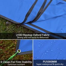 Load image into Gallery viewer, GeerTop 300 x 220cm Oxford Ground Sheet Tent Tarp