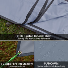 Load image into Gallery viewer, GeerTop Tent Tarp Lightweight Hammock Shelter Ground Sheet with Guy Lines and Pegs