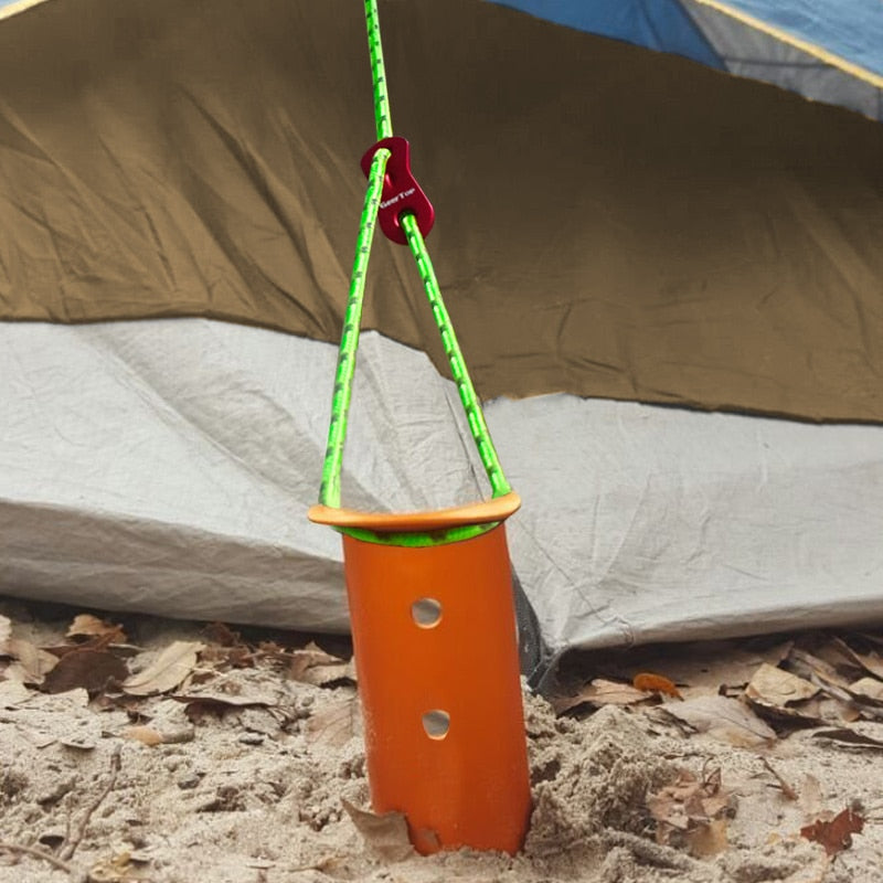 GeerTop Snow Sand Tent Stake with Spring Hooks and Ropes