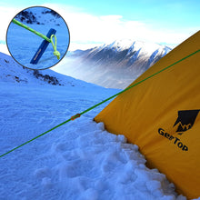 Load image into Gallery viewer, GeerTop Pegs and Rope with Tensioner Camping Tent Accessories