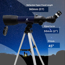 Load image into Gallery viewer, GeerTop 36050s High Magnification HD Telescope for Kids Beginner