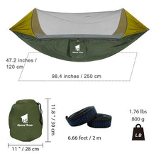 Load image into Gallery viewer, GeerTop 1-2 Person Outdoor Hammock Anti Mosquito Tent