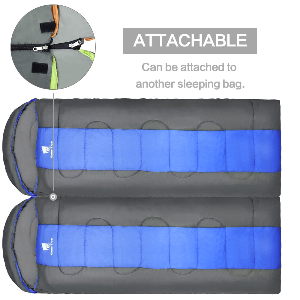 Lightweight Waterproof Envelope Sleeping Bag Splicable 5°C to 12°C