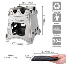 Load image into Gallery viewer, GeerTop Portable Folding Titanium Tourist Stove Firewood Fire Maple Cockle