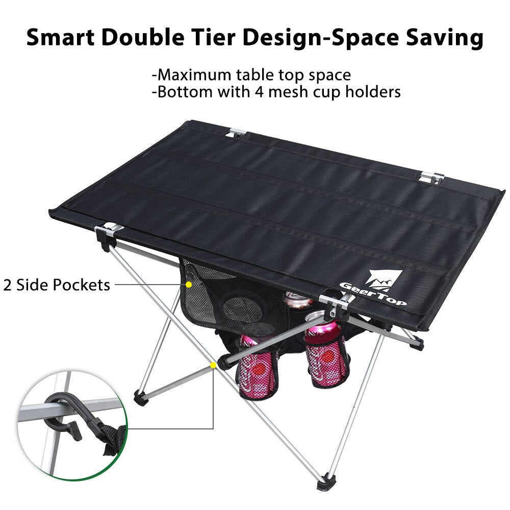 GeerTop Lightweight Folding Camping Picnic Table