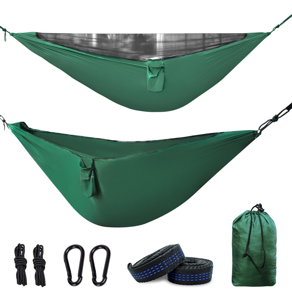 Geertop Camping Hammock with Detachable Mosquito Net