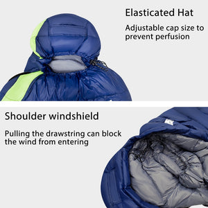 GeerTop Down Fill Ultralight Mummy Sleeping Bag for Hammock Tent