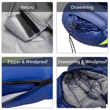 Load image into Gallery viewer, GeerTop Down Fill Ultralight Mummy Sleeping Bag for Hammock Tent