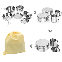 Load image into Gallery viewer, GeerTop Ultralight Stainless Steel Camping Cookware